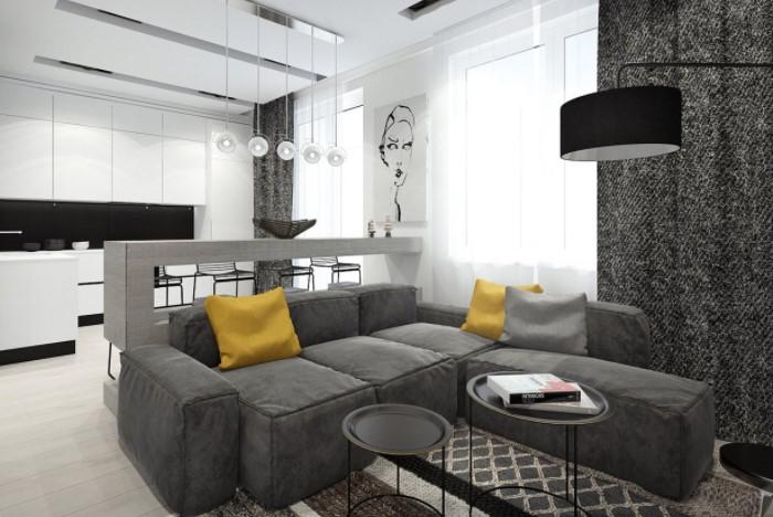 Вопреки расхожему мнению, подобные комнаты выглядят не скучно, а лаконично / Фото: inside-lighting.ru