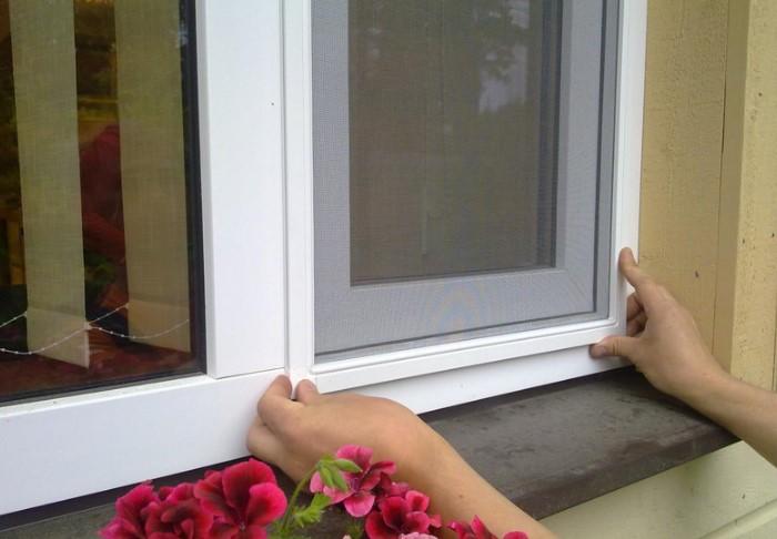 Москитная сетка на окнах предотвратит попадание в дом насекомых / Фото: kayrosblog.ru