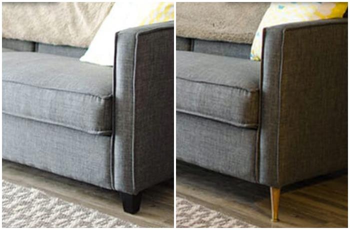 Дизайнеры утверждают, что с помощью замены ножек можно улучшить можно даже неказистый диван