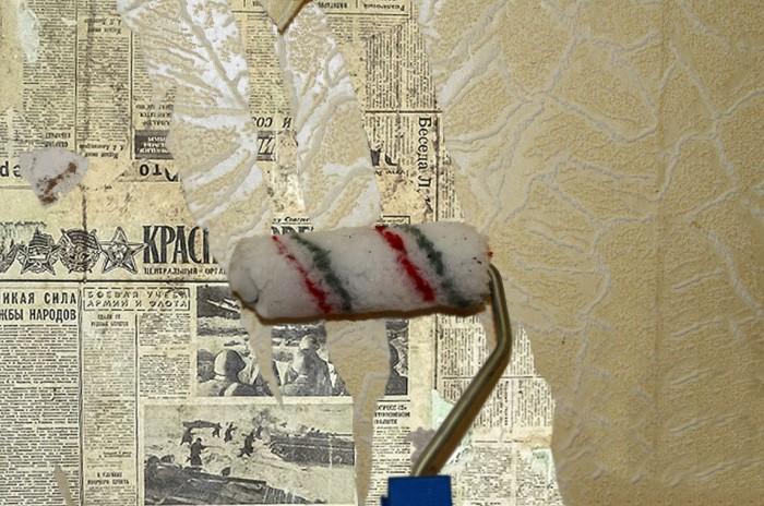Годов до 80-х-90-х советские граждане клеили обои на газеты