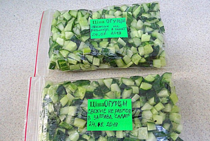 Для салатов достаточно нарезать огурцы полукольцами или кубиками и расфасовать по зип-пакетам / Фото: vpuzo.com