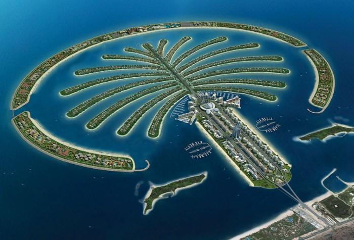 После того, как береговая линия 70 км закончилась, в Дубае начали создавать искусственные острова / Фото: putivodi.ru
