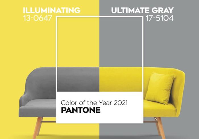 В 2021 году лавры достались сразу двум оттенкам: Ultimate Gray (Безупречный серый) и Illuminating (Освещающий желтый) / Фото: mir-s3-cdn-cf.behance.net