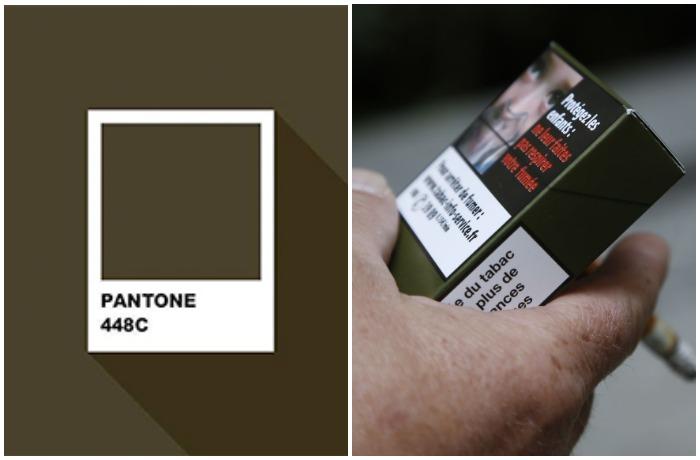 Самым нелюбимым оказался оттенок Pantone 448C, который расшифровывается как тусклый темно-коричневый