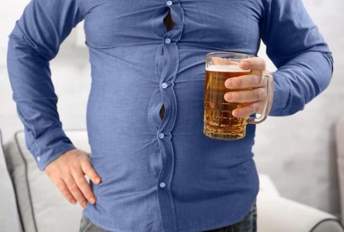 Пивной живот - распространенная проблема среди мужчин