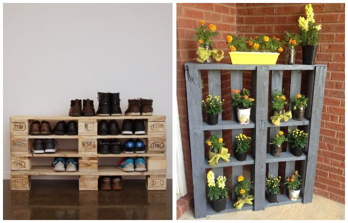 Кроме этого, из деревянных поддонов можно сделать массу полезных вещей для сада и дома