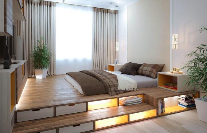 Интерьерный помост можно превратить в многофункционального домашнего помощника