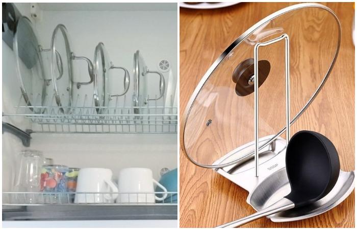 Если у вас мало посуды, воспользуйтесь сушилкой или приобретите удобную подставку