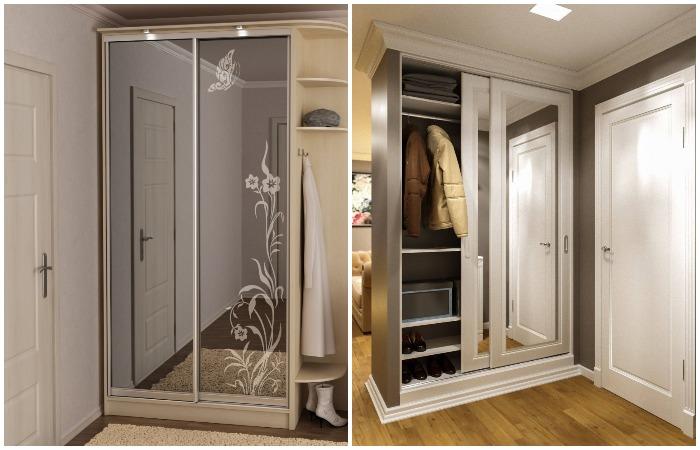 Зеркальные шкафы-купе - отличная мебель для прихожей / Фото: severdv.ru