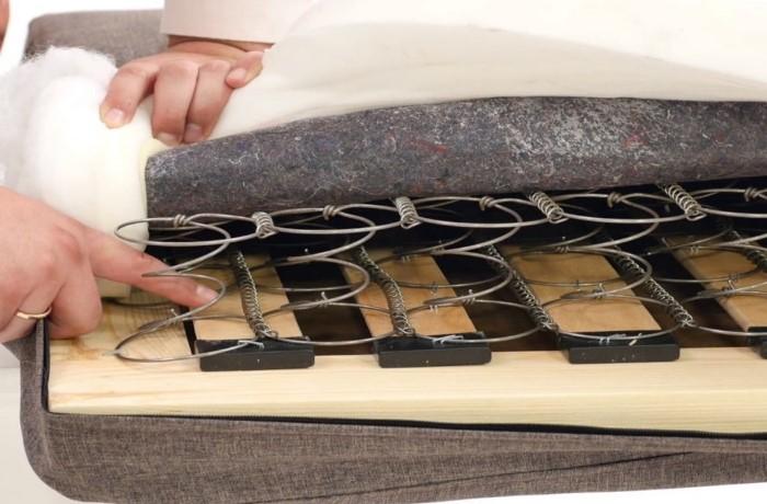 Есть производители, которые используют либо только пружины, либо многослойный поролон / Фото: dommino.ua