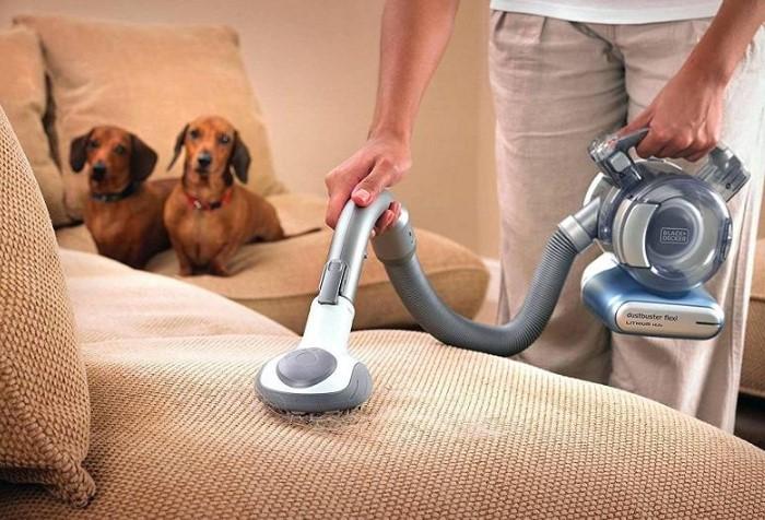 Если у вас есть питомец, лучше обзавестись пылесосом для уборки шерсти / Фото: sdelai-lestnicu.ru