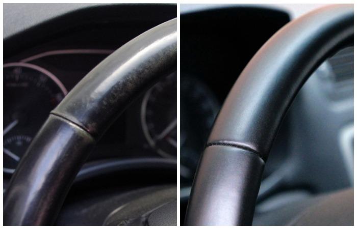 Руль до и после домашней реставрации