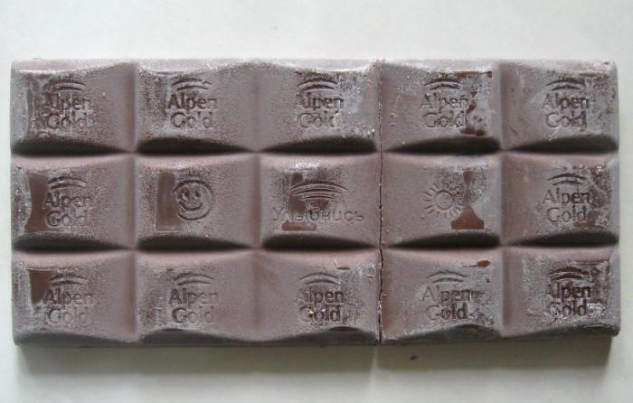 Шоколад будто покрывается седоватым налетом