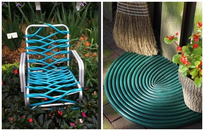 Не спешите выбрасывать старые садовые шланги, ведь из них можно сделать полезные вещи на все сезоны