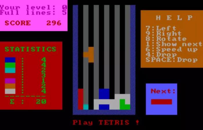 В 1985 году школьник Вадим Герасимов адаптировал тетрис для первого в мире ПК / Фото: leonardo.osnova.io