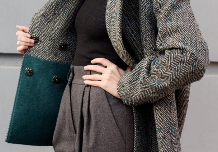 Твидовые пальто практически не пачкаются и не мнутся / Фото: vce-tkani.ru