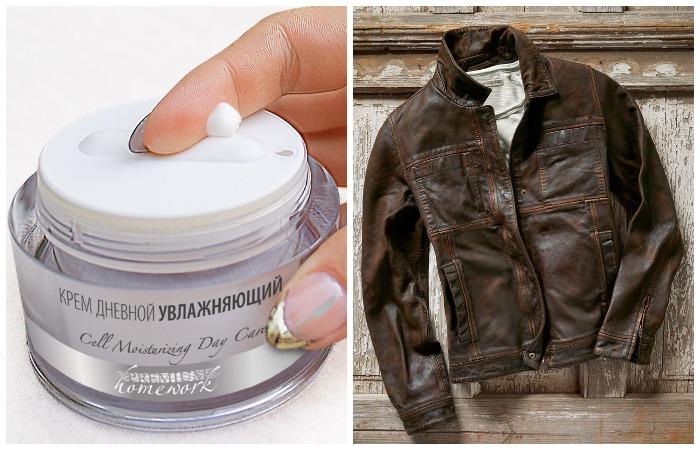 Увлажняющий крем напитает не только кожу тела, но и кожаные изделия
