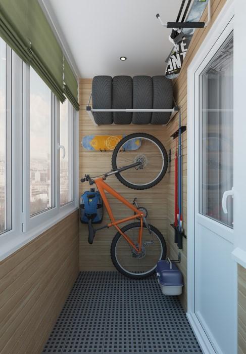 Благодаря специальным креплениям велосипед не займет много места / Фото: esse.pro