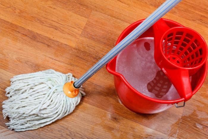 / Фото: Подобная швабра плохо впитывает влагу, поэтому за ней тянется водный след по всему полуlivingwellspendingless.com