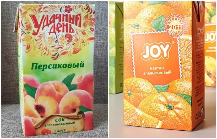 Восстановленный сок сохраняет вкус, аромат и полезные вещества оригинального фрукта, а в нектар уже добавляются подсластители