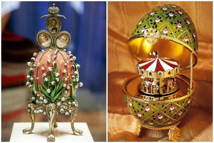 Кроме Романовых, Фаберже изготавливал яйца и для других частных лиц