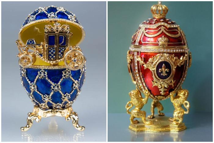 На данный момент известно о 71 яйце, которые находятся в музеях и частных коллекциях