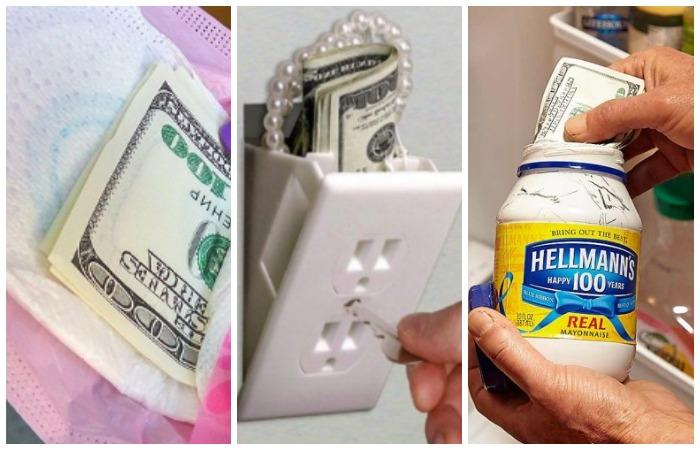 Нестандартные варианты тайника для денег