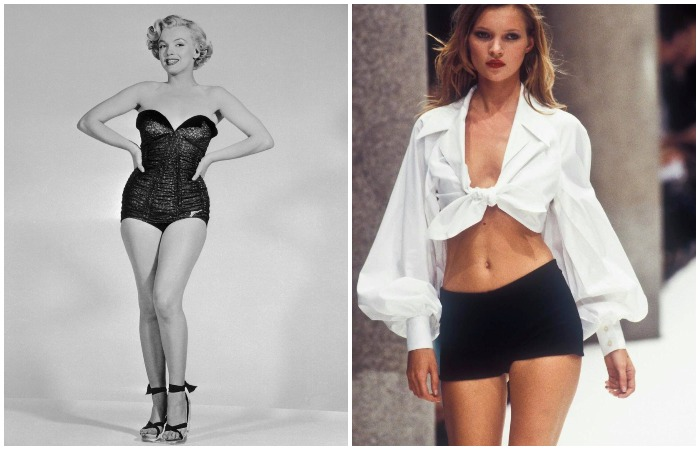 В ХХ веке были популярны и пышные формы, и фигуры 90-60-90