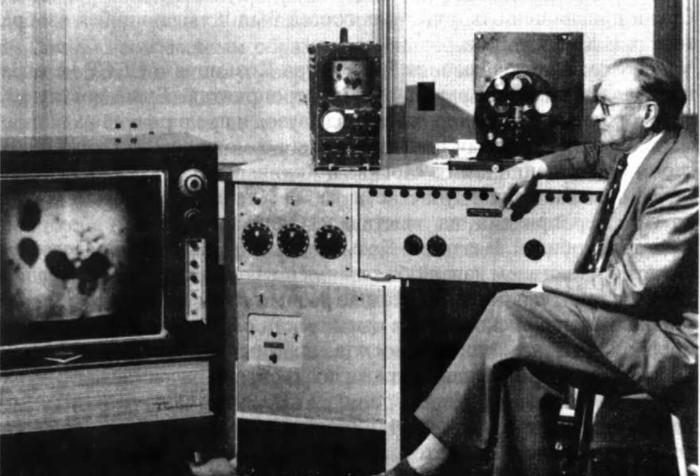 В 40-х Зворыкину удалось разделить световой луч на красно-сине-зеленые цвета, и получилось первое цветное телевидение / Фото: pda.coollib.net
