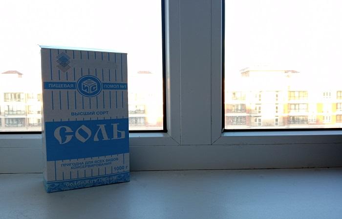 Соль хорошо впитывает и удерживает влагу, предотвращая замерзание стекол / Фото: novate.ru