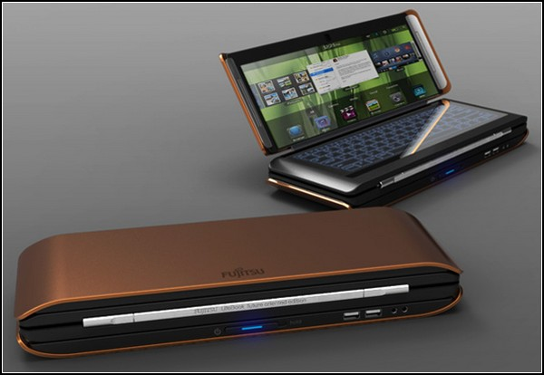 Ноутбук-гармошка LIFEBOOK X2, который можно носить в кармане