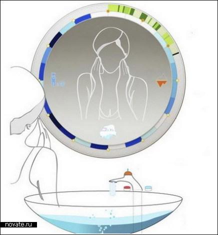 Зеркало, которое поможет экономить воду