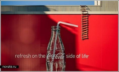 Необычная реклама на домах