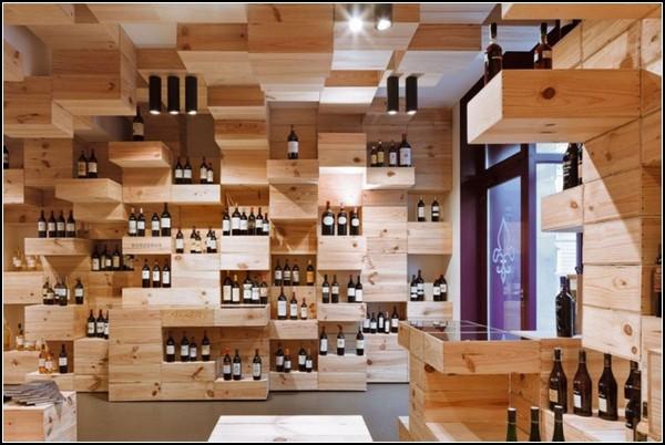 Винный магазин из винных коробок