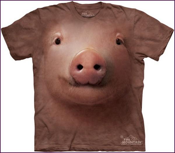 Животные футболки на человеческие тела от компании The Mountain