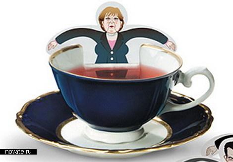 Знакомое лицо в чашке с чаем