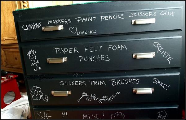 Шкаф для рисования мелками