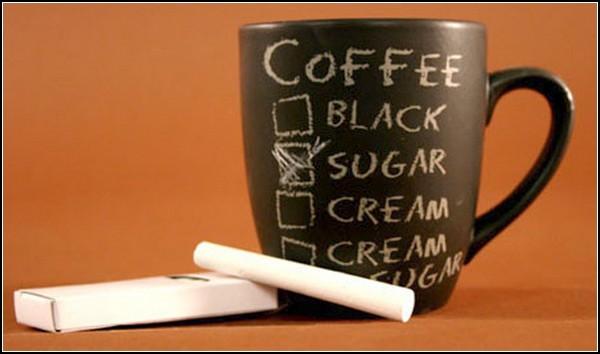 Кружка для кофе для рисования мелками