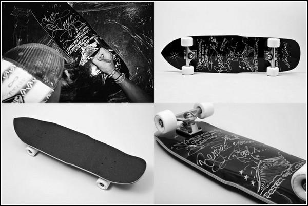 Скейтборд для рисования мелками