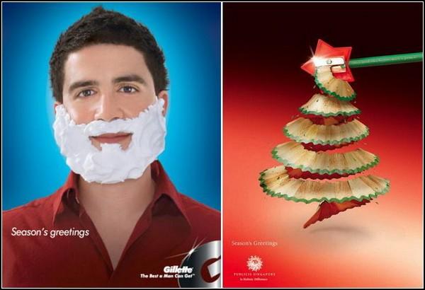 Креативная рождественская реклама