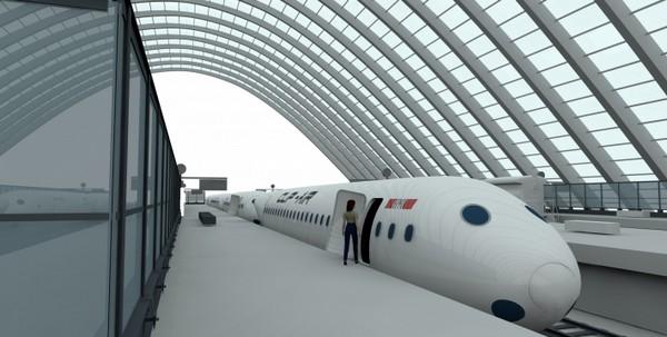 Clip-Air - самолет, который переносит по небу вагоны