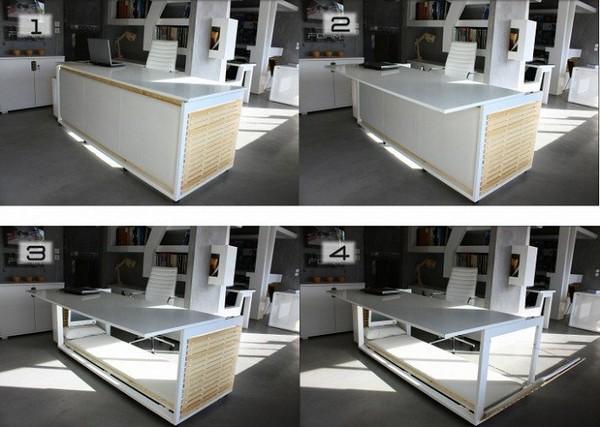 Desk Bed от Studio NL – рабочий стол, который умеет превращаться в кровать