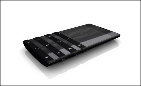 Телефон со скользящей клавиатурой