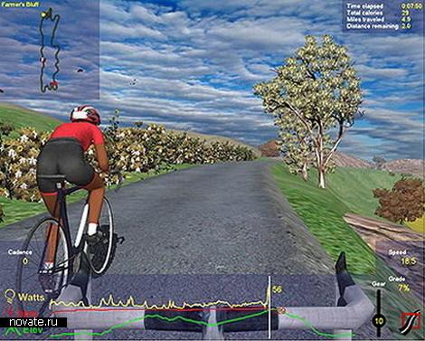 tehnika  Виртуальный велосипед