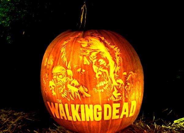 Тыква в стиле Walking Dead