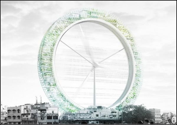Небоскреб-турбина в Нью-Дели. Лучший небоскреб 2011-го года!