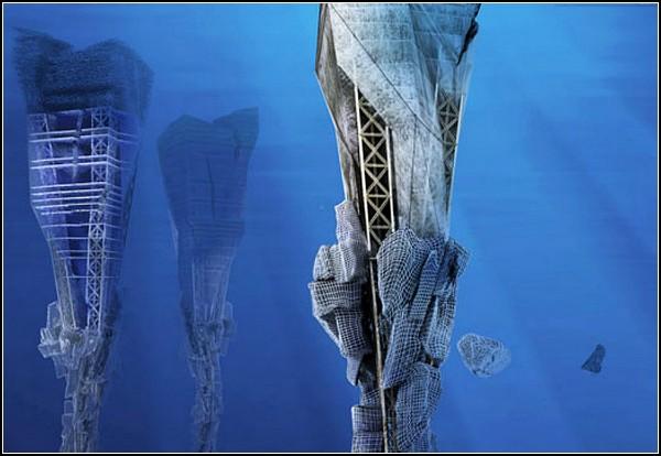 Подводные небоскребы из мусора