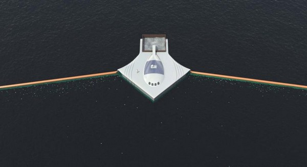 Ocean Cleanup Array – гигантская воронка для плавающего мусора