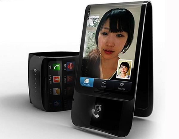 Гибкий телефон Samsung Galaxy Skin