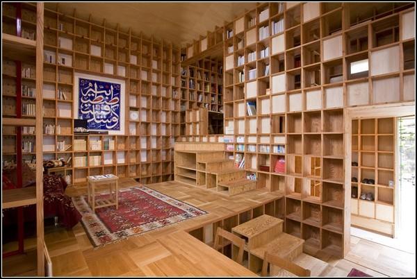 Дом для библиофила от Казуи Мориты (Kazuya Morita)